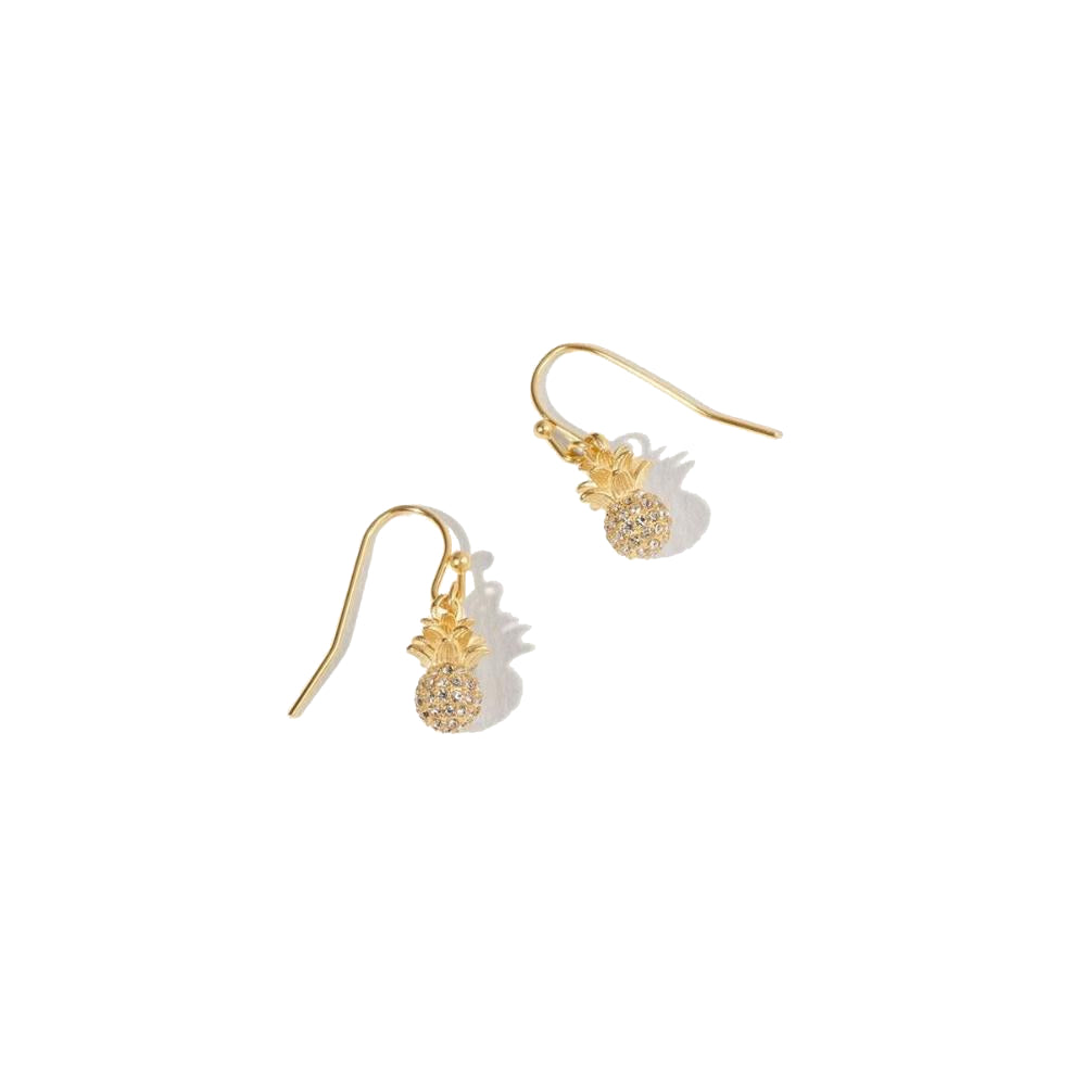 Spartina Delicate Sparkly Pineapple Drop Earrings