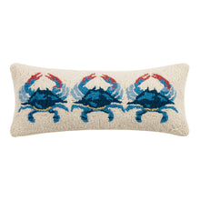 Load image into Gallery viewer, Blue Crab Hook Pillow 8X20