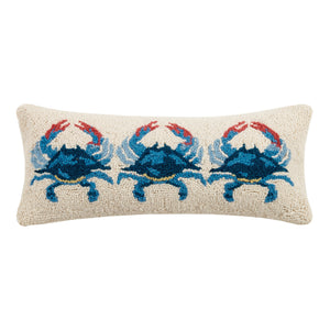 Blue Crab Hook Pillow 8X20