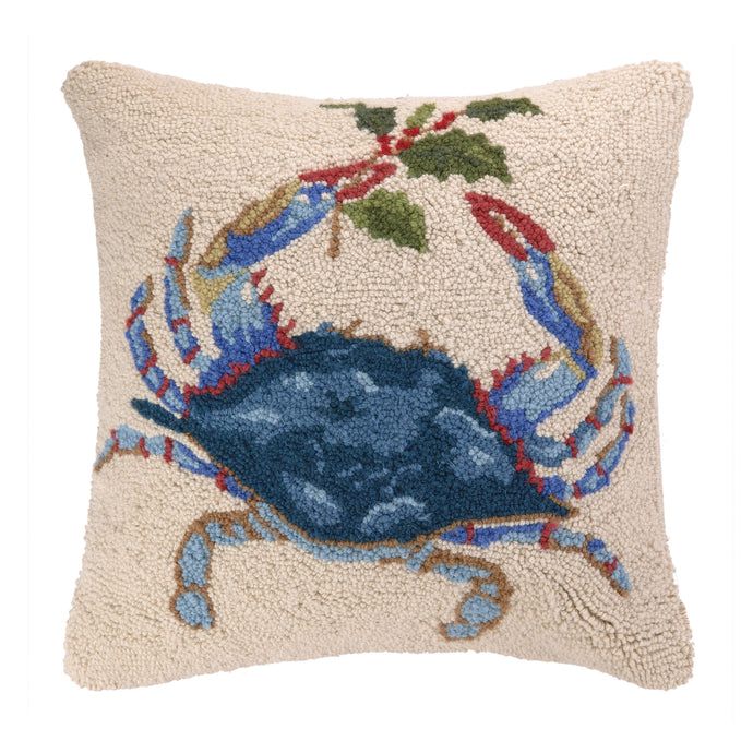 Christmas Blue Crab Hook Pillow