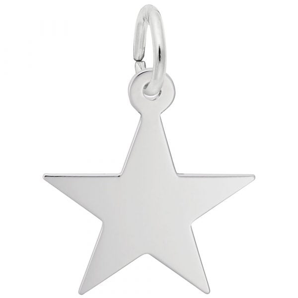 Sterling Silver Star Classis 5 Charm