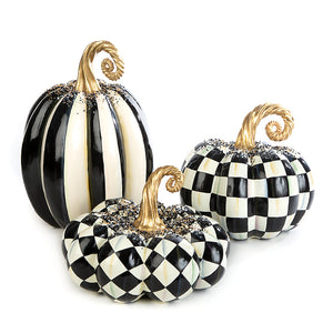 MacKenzie-Childs Beaded Stripe Pumpkin