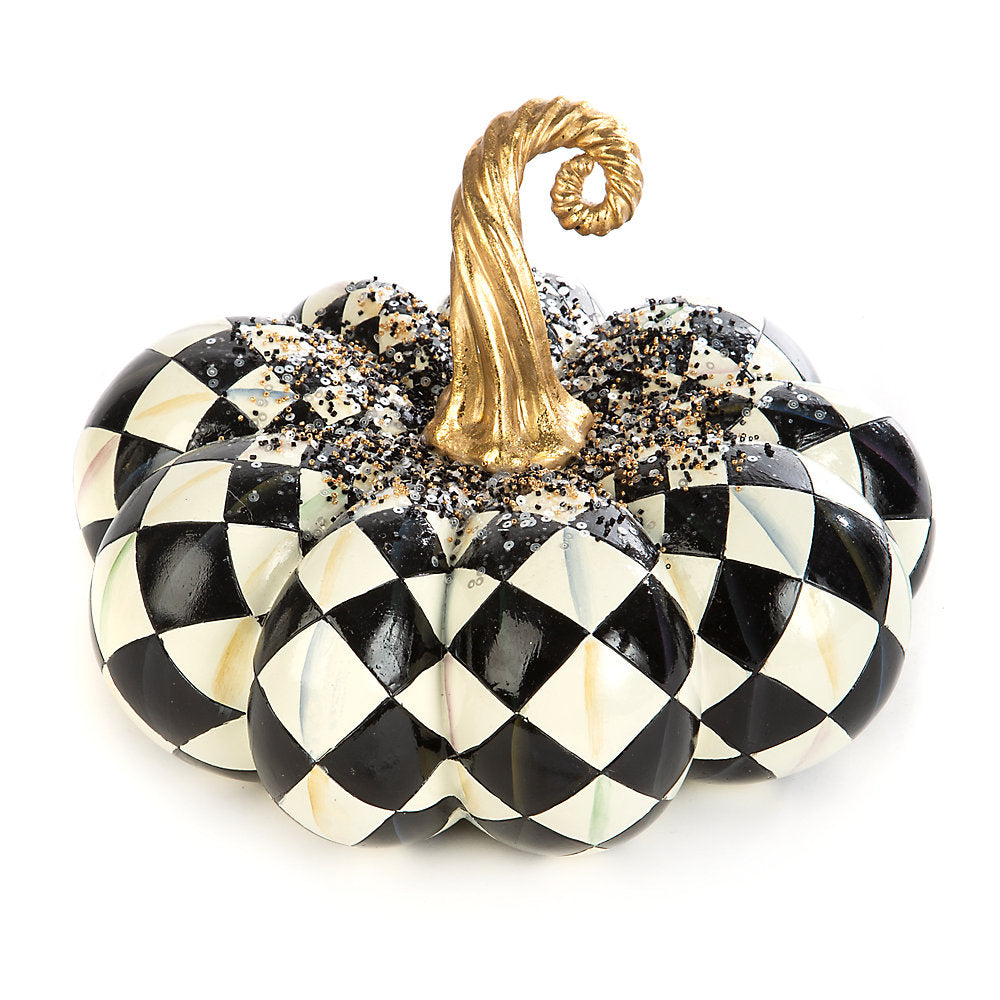 MacKenzie-Childs Beaded Harlequin Squashed Pumpkin