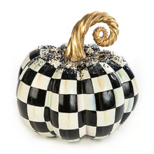Load image into Gallery viewer, MacKenzie-Childs Beaded Check Pumpkin