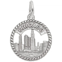 Load image into Gallery viewer, Sterling Silver Chicago Skyline Charm