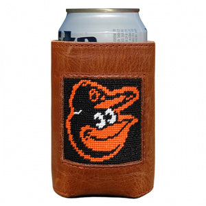 Smathers & Branson Baltimore Orioles Needlepoint Can Cooler