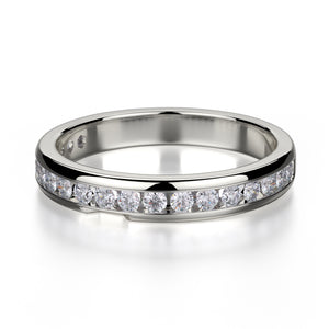 Michael M Single Row Diamond Channel Set Band