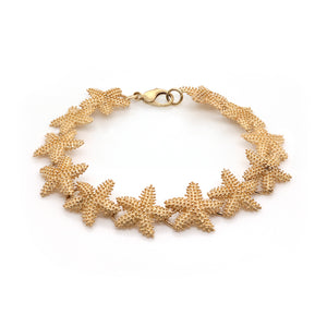 Estate 14k Yellow Gold Starfish Bracelet