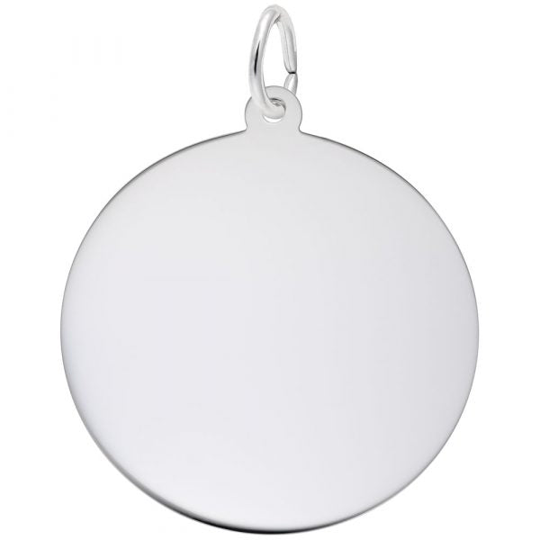 Sterling Silver Disc Extra Large Charm