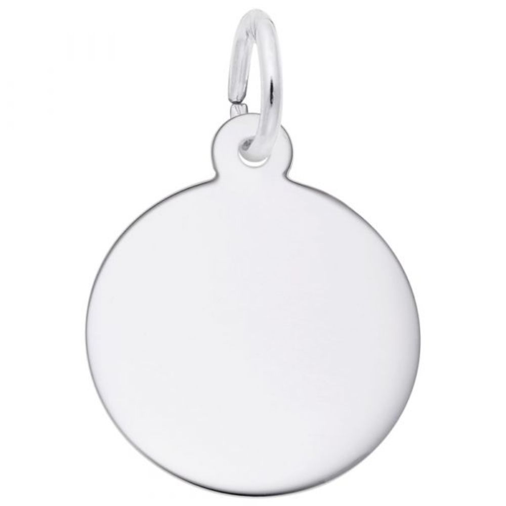 Sterling Silver Petite Round Disc Charm
