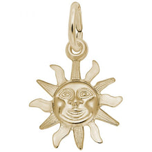 Load image into Gallery viewer, 14K Yellow Gold Starburst Sun Charm