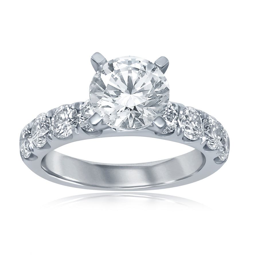 14k Split Prong Engagement Ring