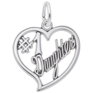 Sterling Silver Number One Daughter Charm
