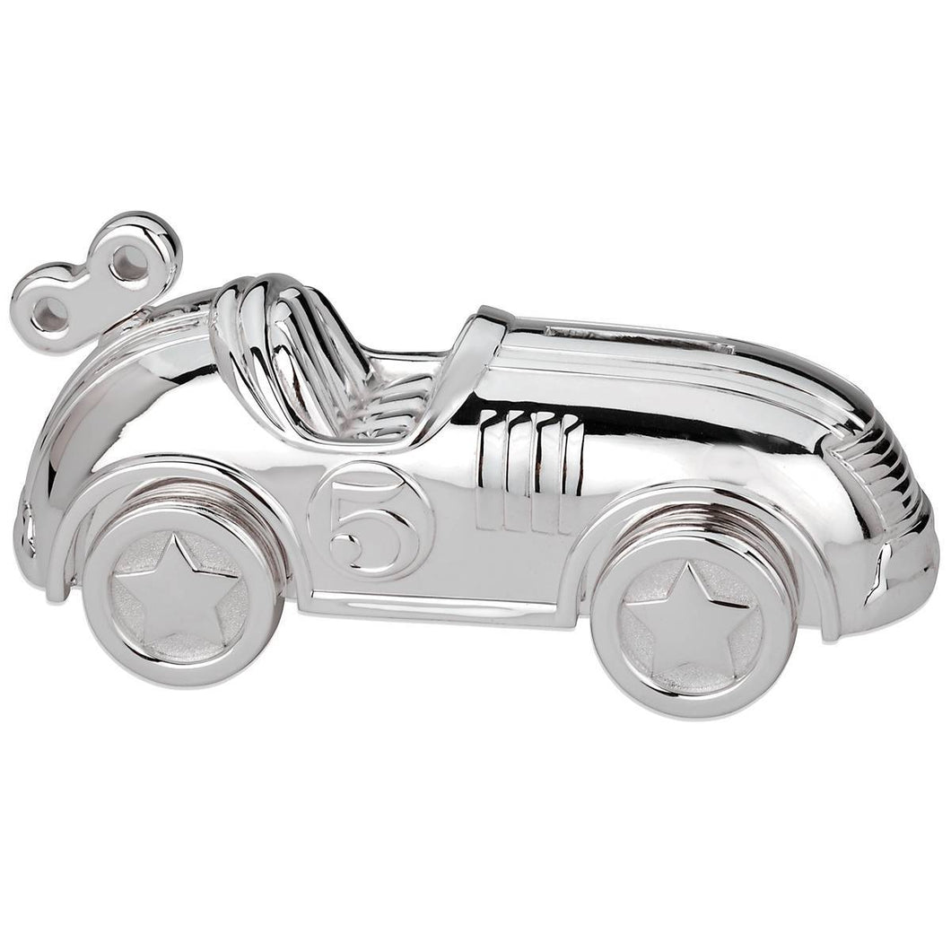 Reed & Barton Race Car Silverplate Bank