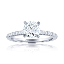 Load image into Gallery viewer, 14k Shared Prong Engagement Ring