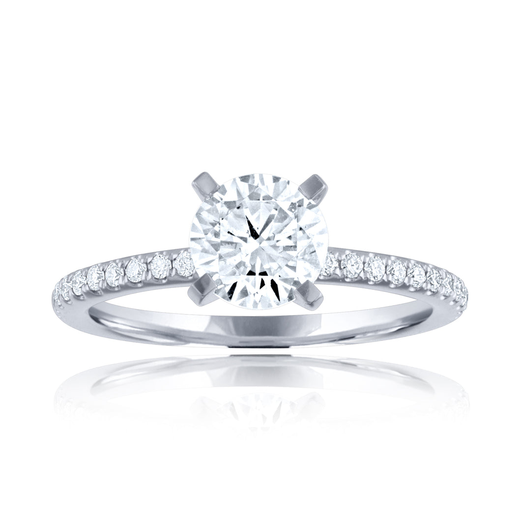 14k Shared Prong Engagement Ring