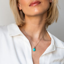 Load image into Gallery viewer, TI SENTO - Milano Turquoise Pendant Necklace 6785TQ