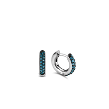 Load image into Gallery viewer, TI SENTO - Milano London Blue Topaz Hoop Earrings 7210DB
