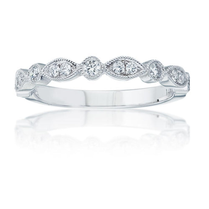 Navette Diamond Wedding Band
