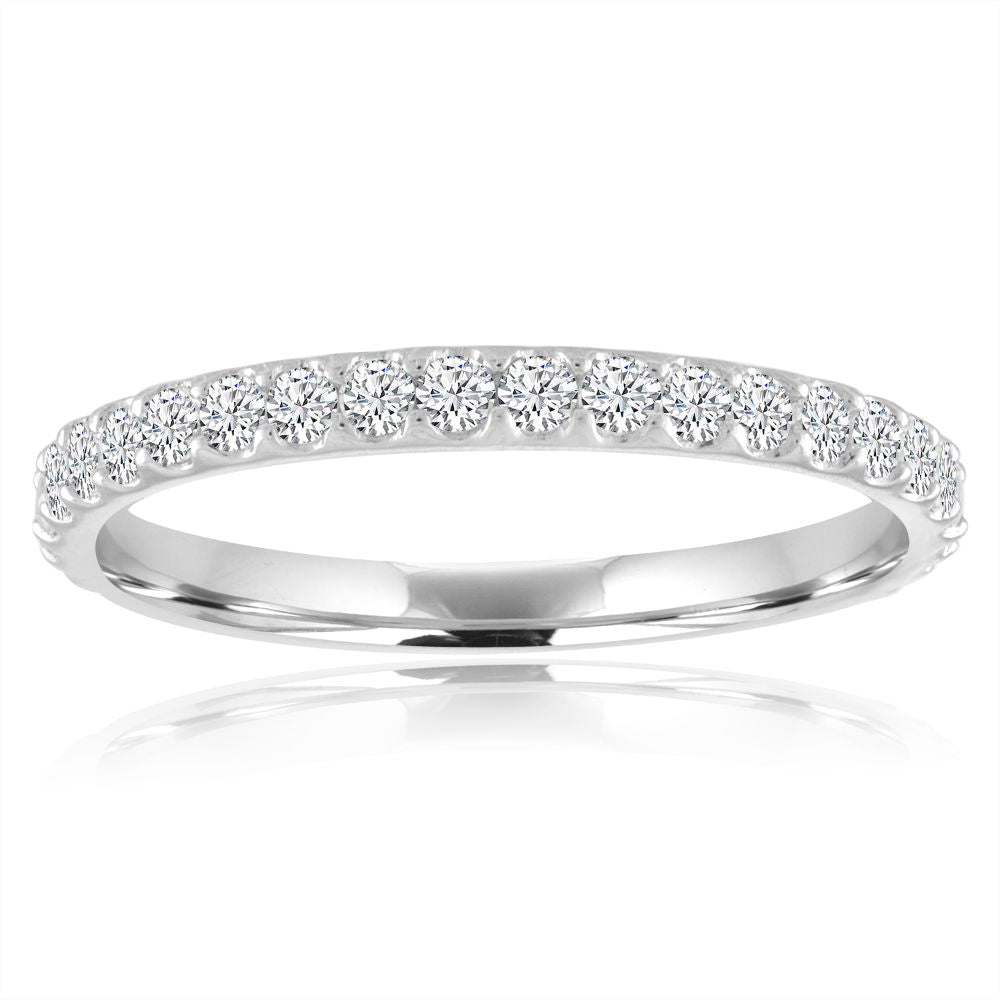 Platinum Pave Diamond Wedding Band