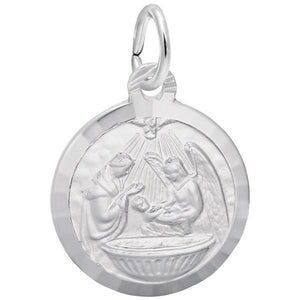 Sterling Silver Baptism Charm