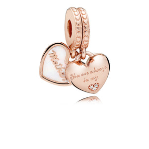 Pandora Mother & Daughter Hearts Dangle Charm