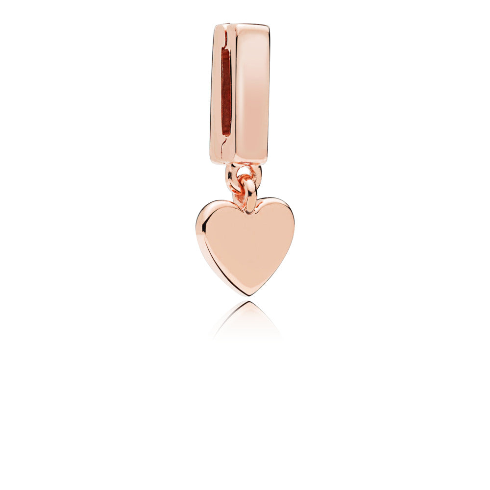 PANDORA REFLEXIONS Heart Dangle Clip Charm