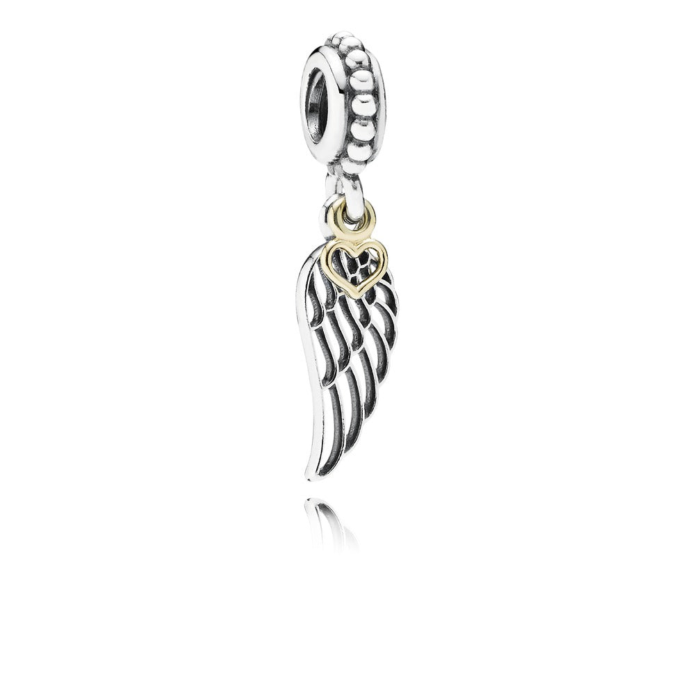 Pandora Angel Wing and Heart Dangle Charm