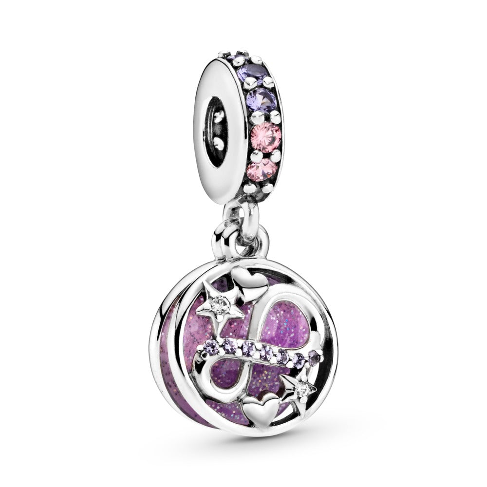 Pandora Glittering Infinity Hearts & Stars Dangle Charm