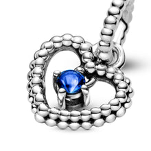 Load image into Gallery viewer, Pandora Beaded Heart Dangle Charm