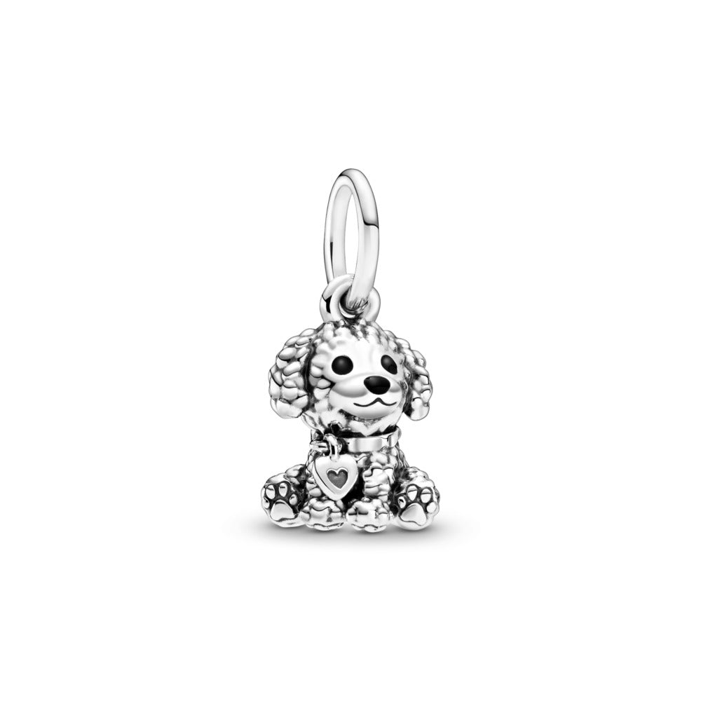 Pandora Poodle Puppy Dog Dangle Charm