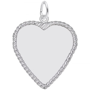Sterling Silver Rope Heart Charm