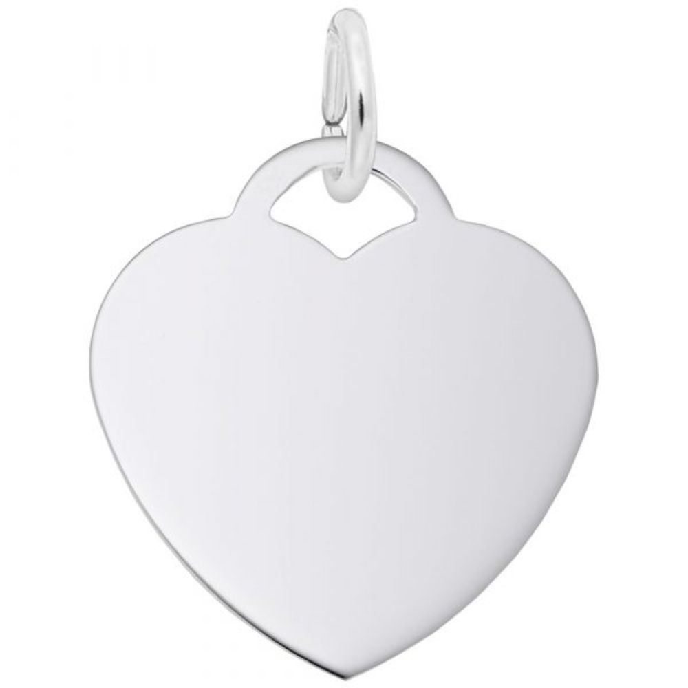 Sterling Silver Medium Heart Charm
