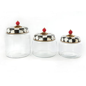 Mackenzie-Childs Courtly Check Kitchen Canister
