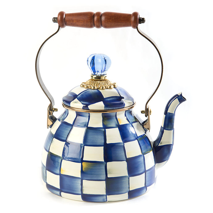 MacKenzie-Childs Royal Check 2 Quart Tea Kettle