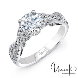 Uneek Infinity Shank Engagement Ring
