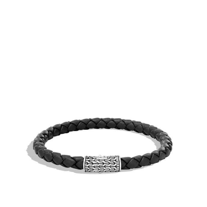 John Hardy Classic Chain Leather Bracelet
