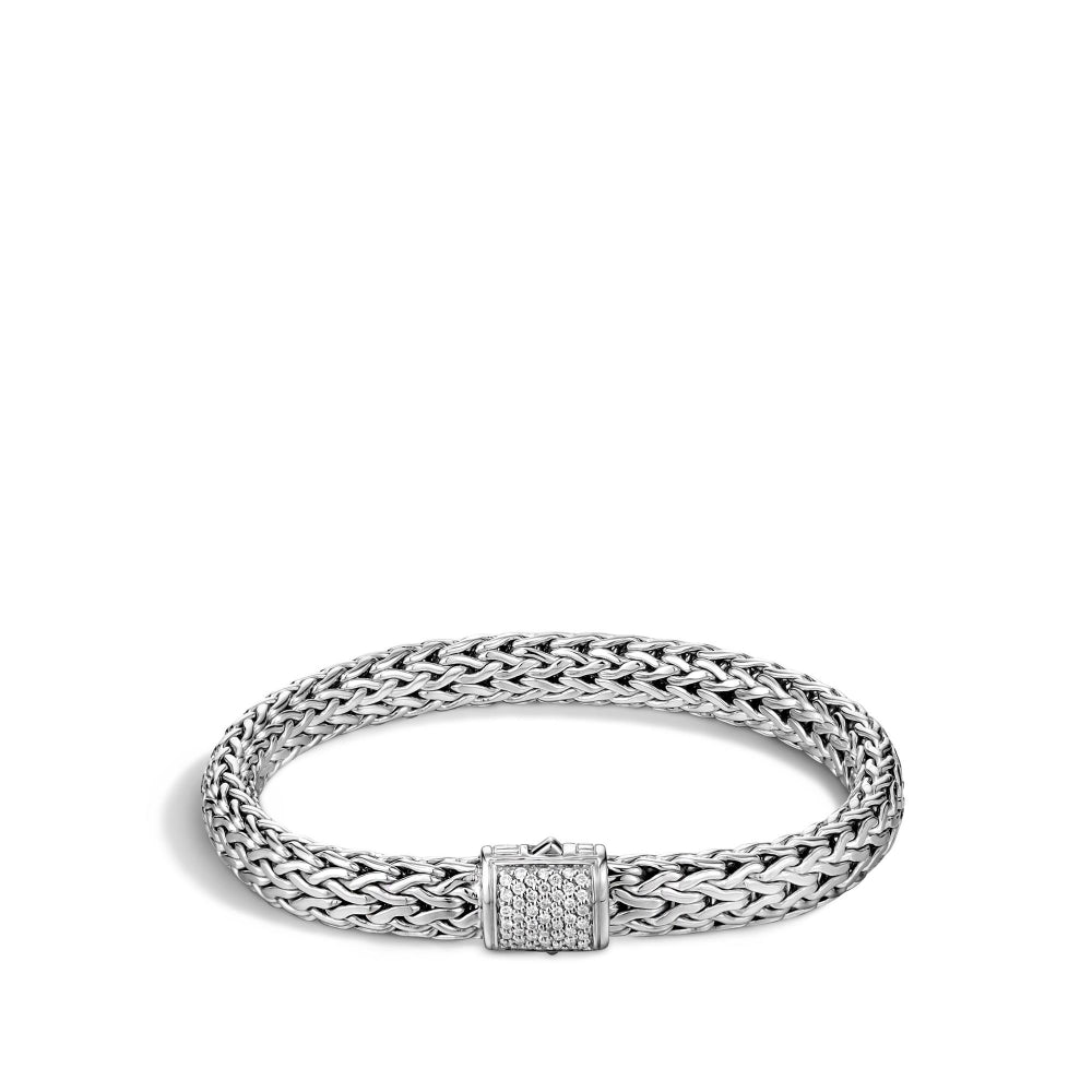 John Hardy Classic Chain 7.5mm Diamond Bracelet