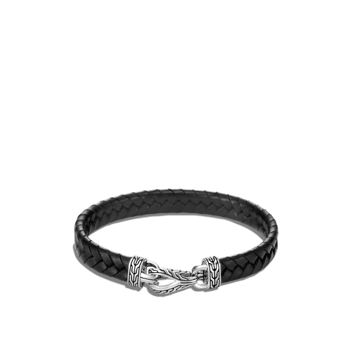 John Hardy Gents Asli Classic Chain Link Leather Bracelet