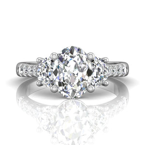 Martin Flyer FlyerFit Encore Three Stone Engagement Ring