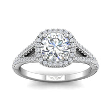 Load image into Gallery viewer, Martin Flyer FlyerFit Split Shank Halo Engagement Ring