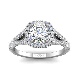 Martin Flyer FlyerFit Split Shank Halo Engagement Ring