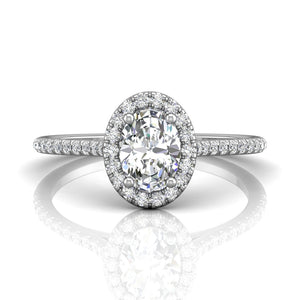 Martin Flyer FlyerFit Micropave Halo Engagement Ring