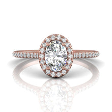 Load image into Gallery viewer, Martin Flyer FlyerFit Micropave Halo Engagement Ring