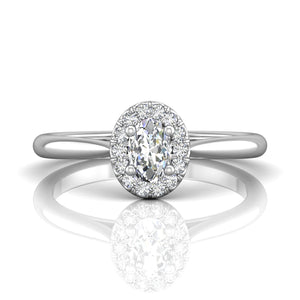 Martin Flyer FlyerFit Micropave Halo Complete Engagement Ring