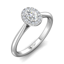 Load image into Gallery viewer, Martin Flyer FlyerFit Micropave Halo Complete Engagement Ring