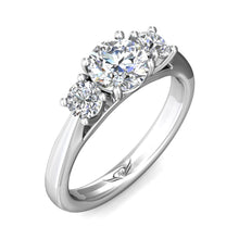 Load image into Gallery viewer, Martin Flyer FlyerFit Three Stone Engagement Ring
