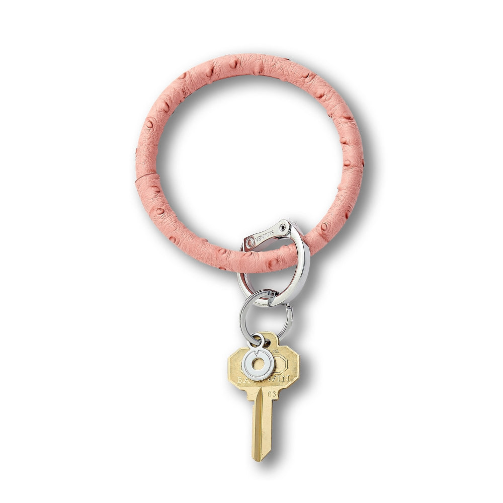 Oventure Ostrich Leather Big O Key Ring