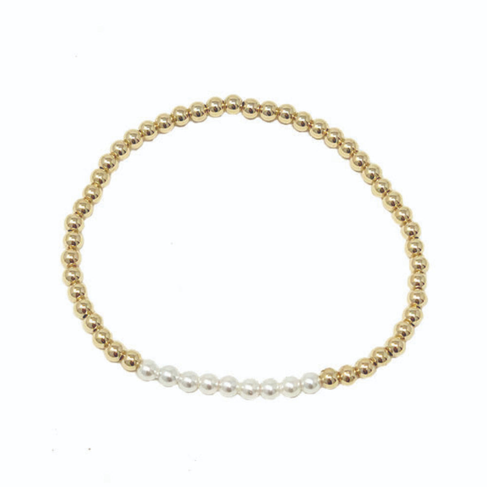enewton egirl Beaded Bliss 3mm Bead Bracelet gold
