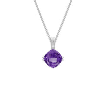 Load image into Gallery viewer, Cushion Cut Semi-Precious Gemstone Pendant Necklace